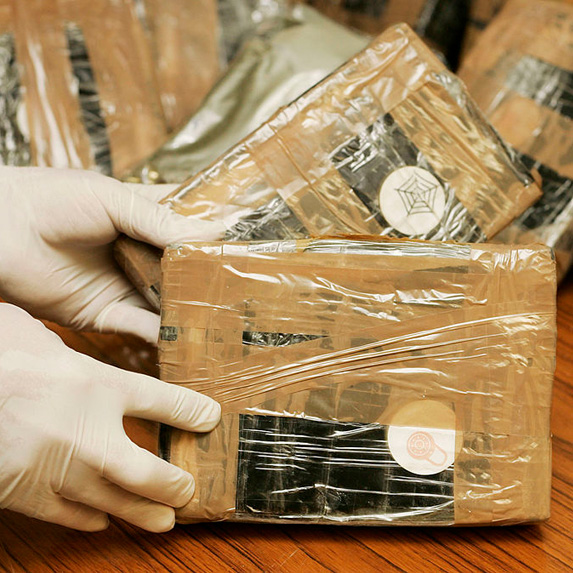 Handling packaged cocaine