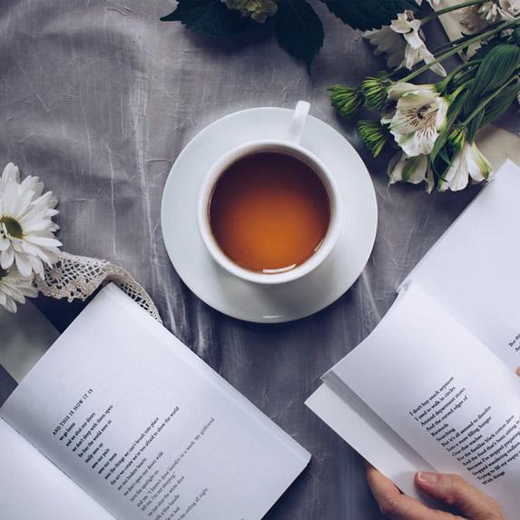 Teacup and good books