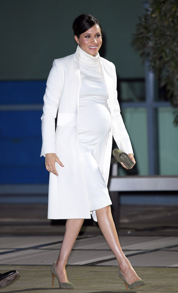 Meghan Markle wears an all-white ensemble while attending a gala in 2019