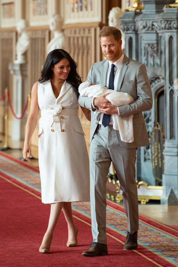 Meghan Markle and Prince Harry present baby Archie at Windsor Castle in 2019