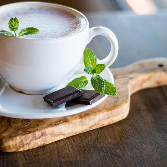 Cute cup of latte