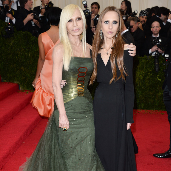 Donatella and Allegra Versace