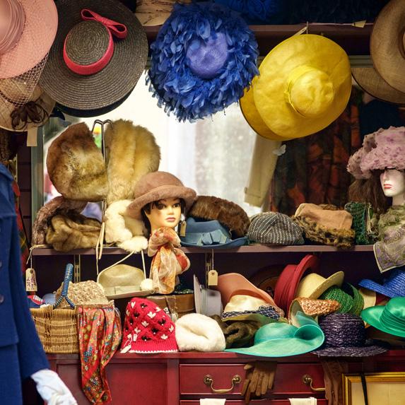 Thrift store hats