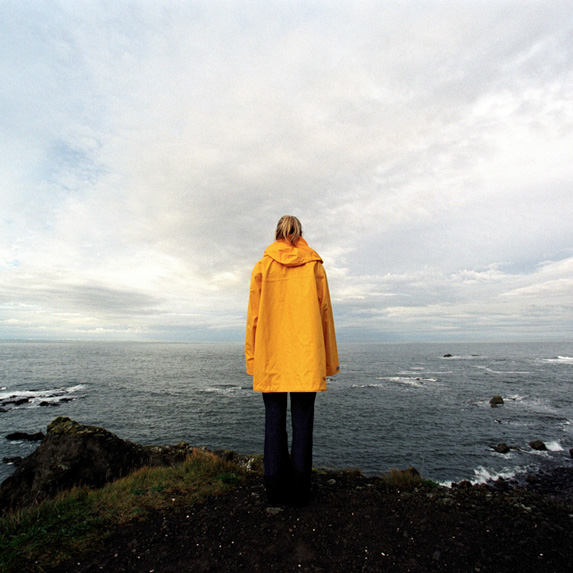 Woman in a raincoat
