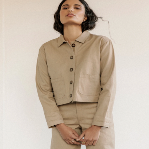 taupe structured jacket