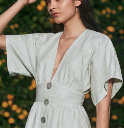 mini linen dress breezy
