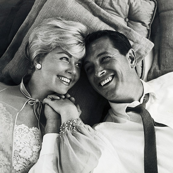 Doris Day and Rock Hudson in Pillow Talk, 1959