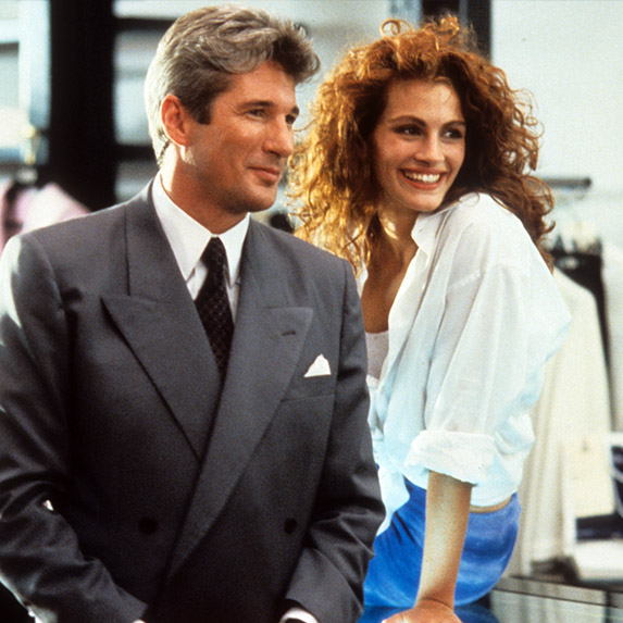 Richard Gere and Julia Roberts, Pretty Woman, 1990