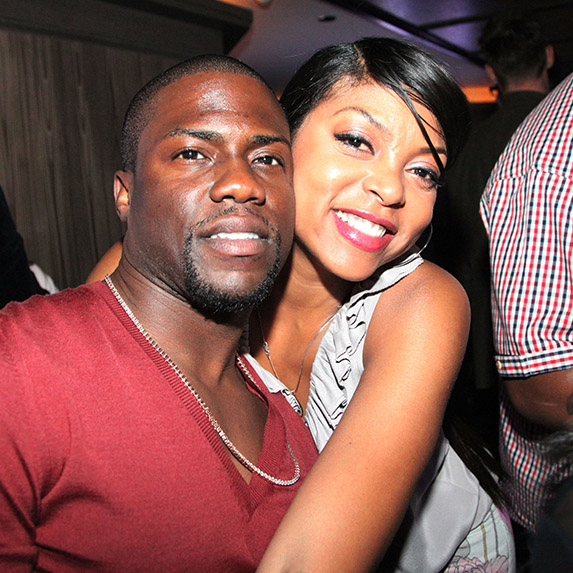 Kevin Hart and Taraji P from Think Like a Man