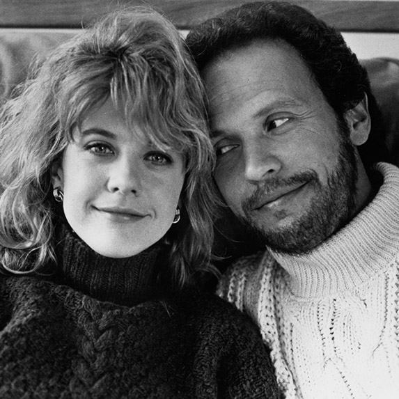 Meg Ryan and Billy Crystal in When Harry Met Sally, 1989