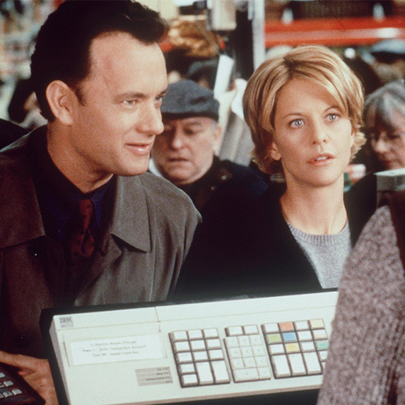Meg Ryan and Tom Hanks in You've Got Mail, 1998
