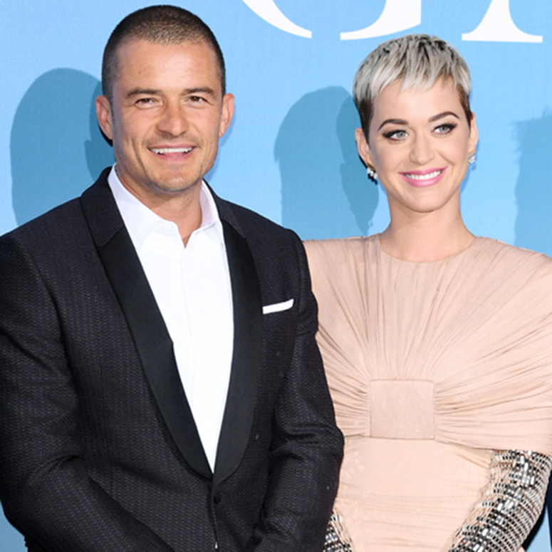 Katy Perry and Orlando Bloom posing