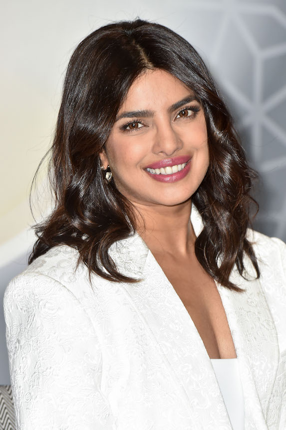 Priyanka Chopra with chocolate-brown hair colour