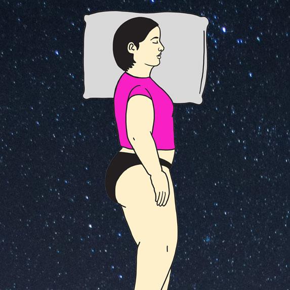 Illustration of the log position sleep style.