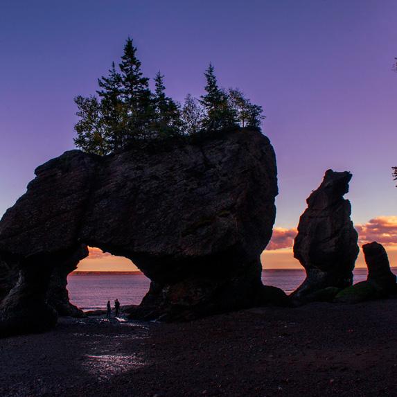 Bay of Fundy, New Brunswick and Nova Scotia