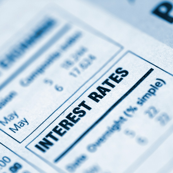 Interest rates in newspaper