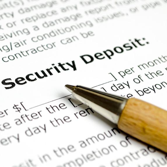 Security deposit document