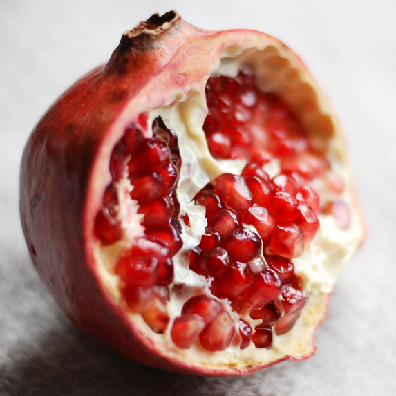 Pomegranate cut open
