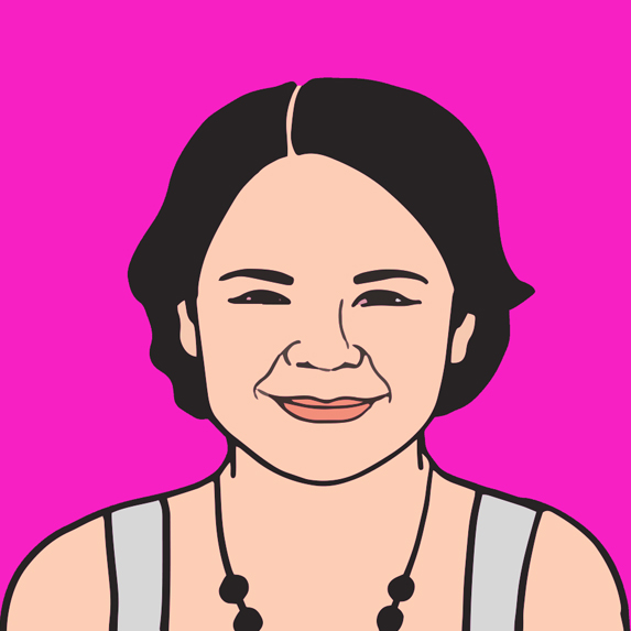 illustration of Jennifer Podemski