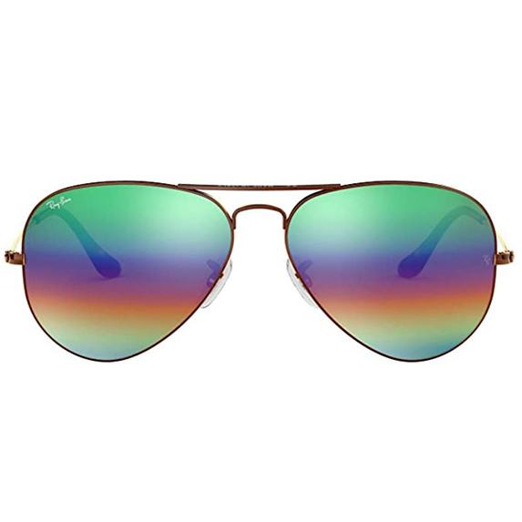 Rainbow-coloured glasses