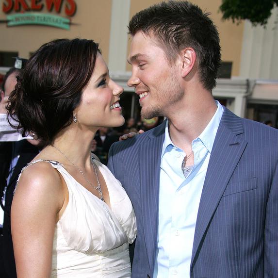 Sophia Bush and Chad Michael Murray at the