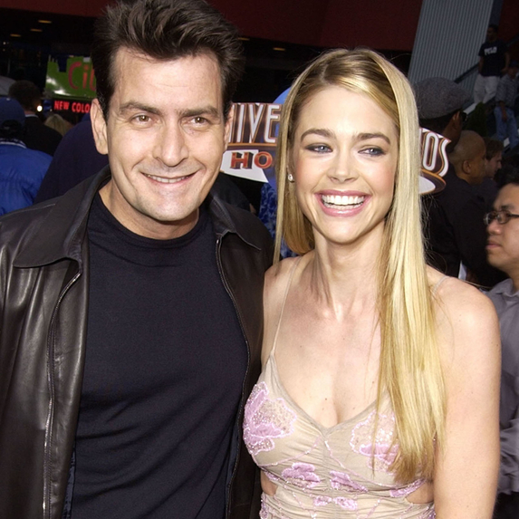 Charlie Sheen and Denise Richards at the