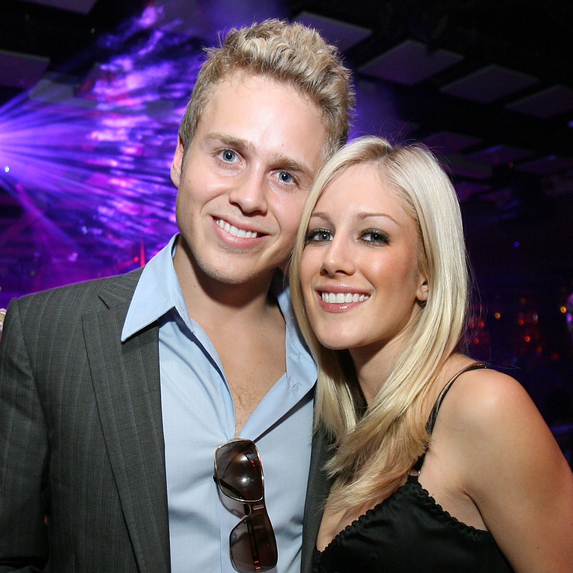 Television personalities Spencer Pratt and Heidi Montag at an evening at Jet Nightclub hosted by Heidi Montag and Spencer Pratt at Jet Nightclub