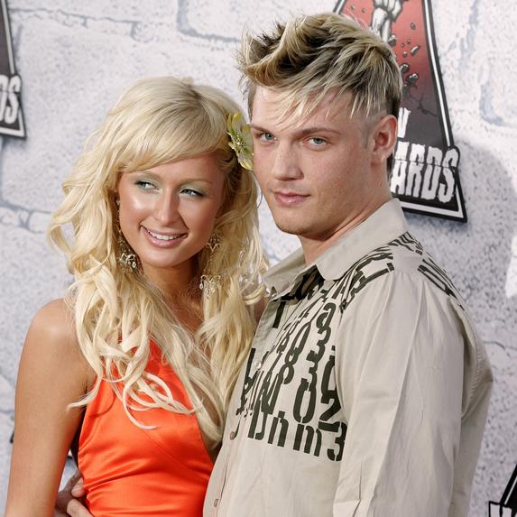 Nick Carter and Paris Hilton at the MTV Movie Awards 2004