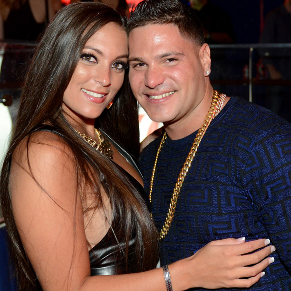 Sammi Giancola and Ronnie Ortiz-Magro at an Intouch Weekly Party
