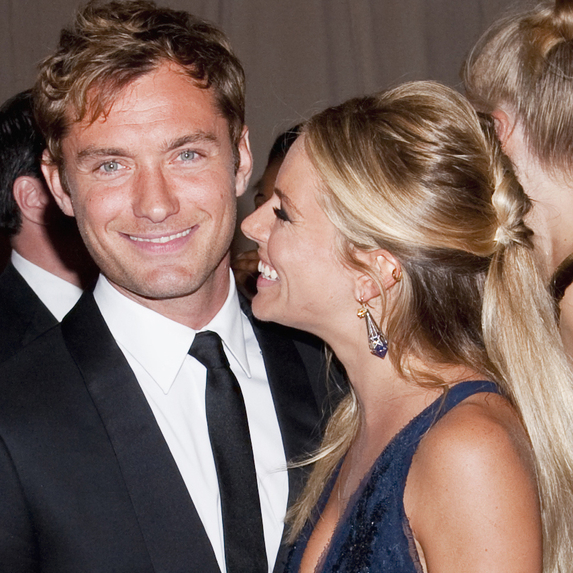 Jude Law and Sienna Miller attend