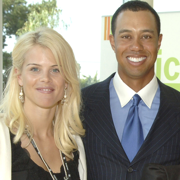 Elin Nordegren and Tiger Woods at the Learning Center Dedication Ceremony