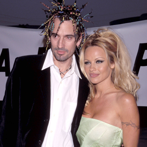 Pamela Anderson and Tommy Lee at the PETA Honors The Animal Rights Movement