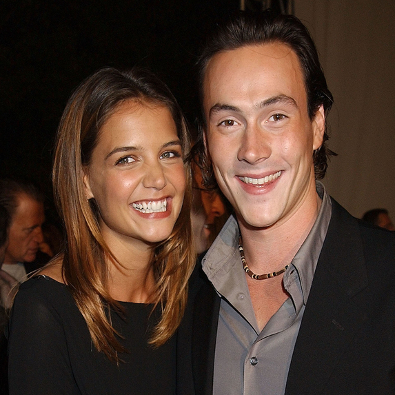 Katie Holmes and Chris Klein at the Paramount Studios in Los Angeles, California