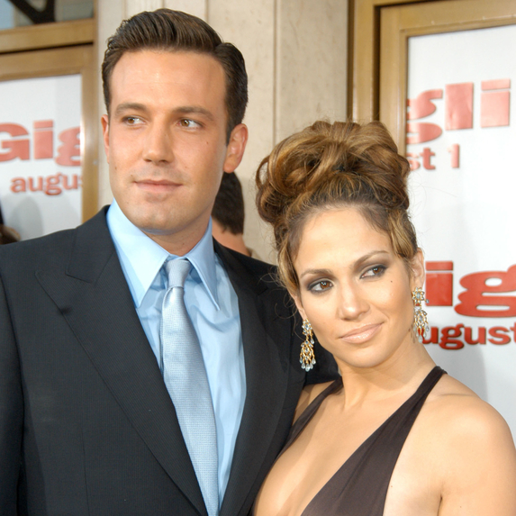 Ben Affleck and Jennifer Lopez together at the Gigli California Premiere