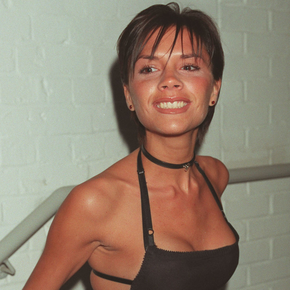 Victoria Beckham backstage at a VH1 party in the 2000s