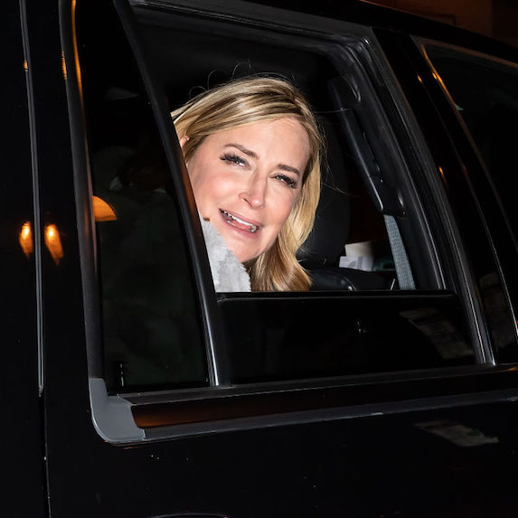 Sonja Morgan in a car.