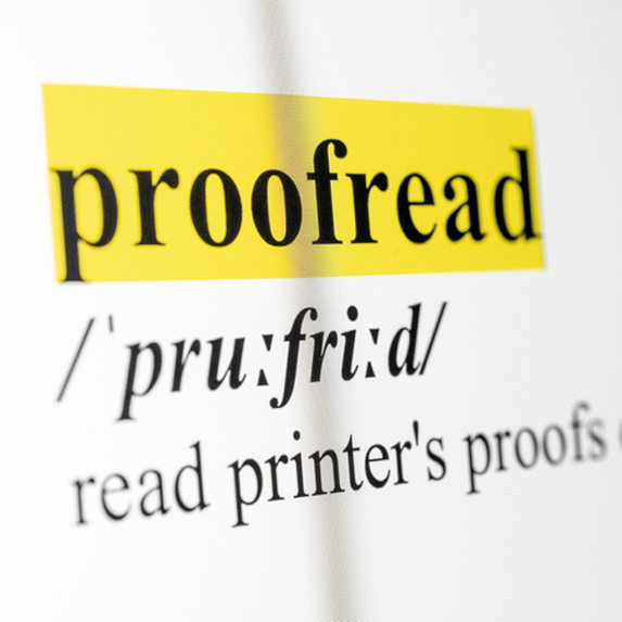 Proofread. Proofread. Proofread.