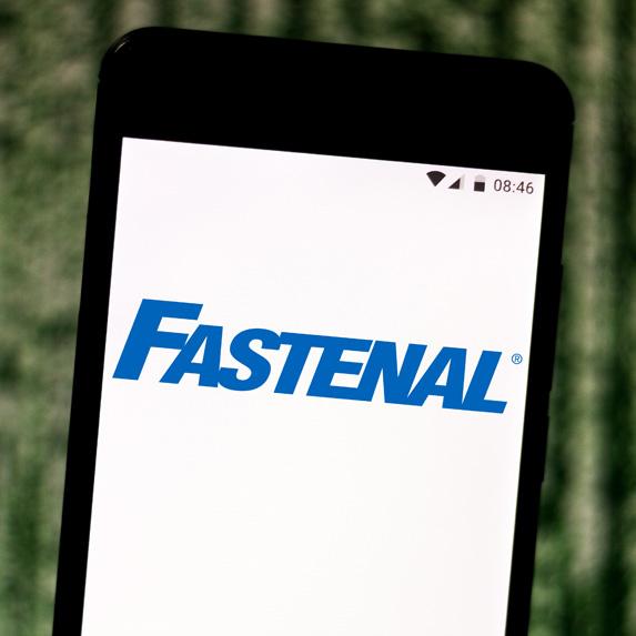 Fastenal logo on a smartphone