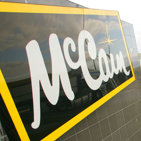McCain Foods sign