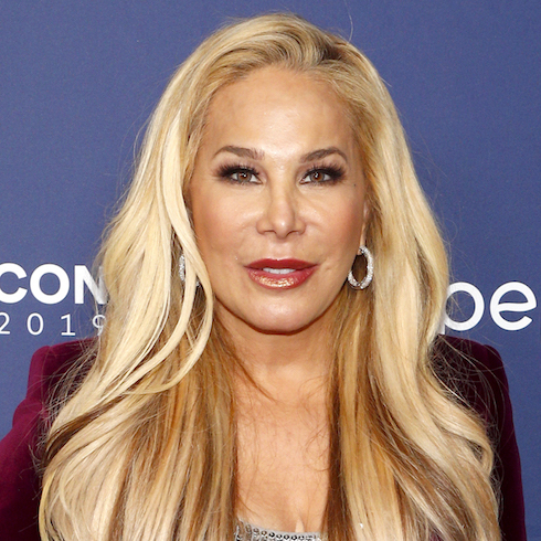 Adrienne Maloof poses on the red carpet