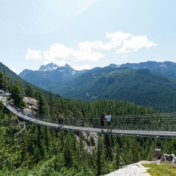 British Columbia suspension bridge