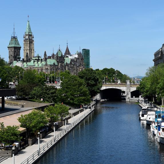 Ottawa's Rideau Canal near Parliament Hill