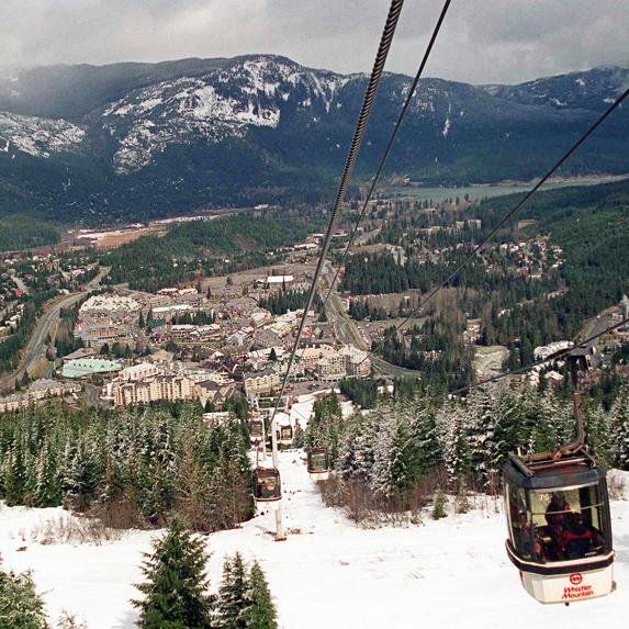 Whistler, British Columbia ski resort