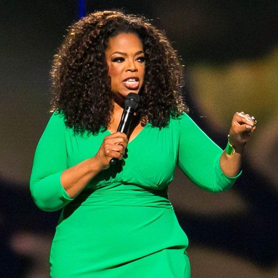 Oprah Winfrey speaking at a public engagement