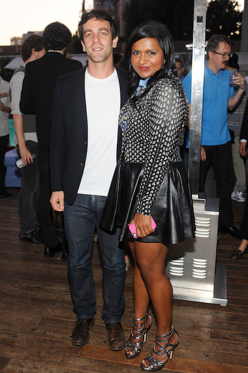 Mindy Kaling poses alongside boyfriend and fellow actor, B.J. Novak in 2012 to celebrate her new television show