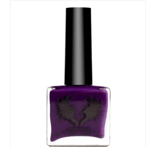 Nail polish bottle in royal purple colour