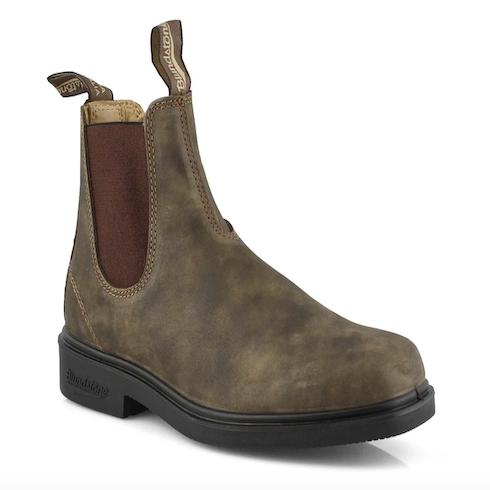 brown Blundstones boots