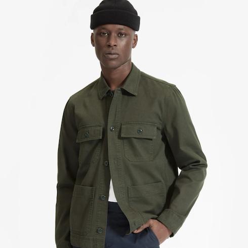 green chore jacket