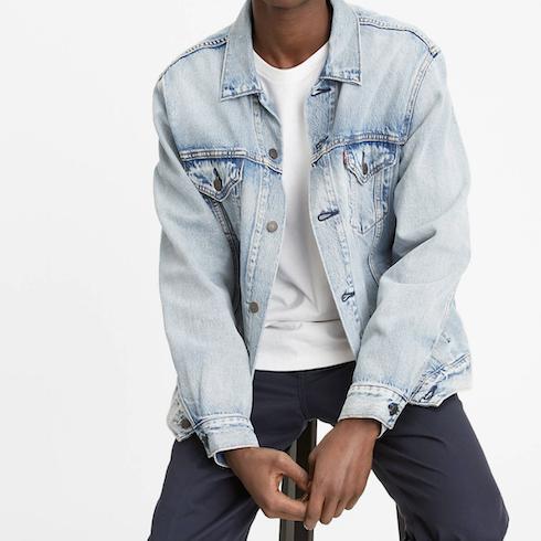 light wash jean denim jacket