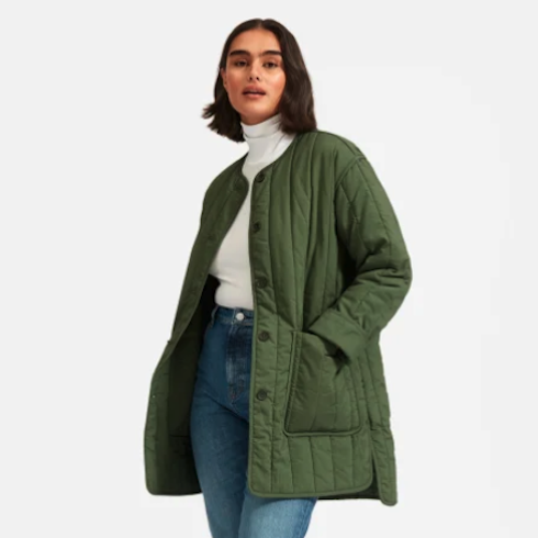 Quilted green jacket